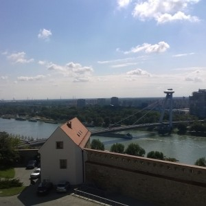 BRATISLAVA - THE DANUBE FROM THE PALACE