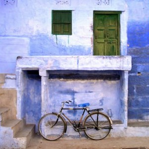 Blue Bicycle - Jodhpur, India