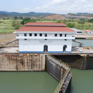 The Canal... Miraflores Locks...