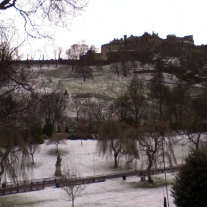 Christmas Edinburgh castle in white!!!
