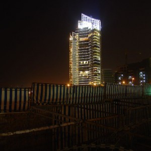 Marina tower by night