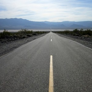 The road through Death Valley, CA